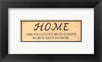 Vintage Home Framed Print