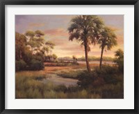 River Cove With Palms I Framed Print