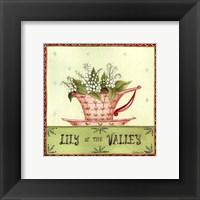 Framed Floral Teacup IV