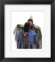 Framed Getting Ready For The Pow Wow
