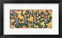 Framed Gecko Maracas Band