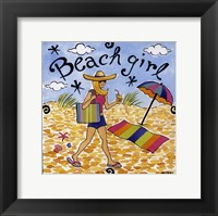 Framed Beach Girl I