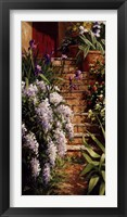 Hydrangea Steps Left Framed Print