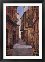 Village Alleyway Framed Print