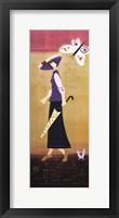 Woman With Butterflies I Framed Print
