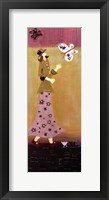 Woman With Butterflies II Framed Print