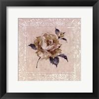 Framed Jardin Rose ll