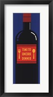 Time To Uncork Dinner Framed Print