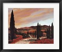 Framed Tuscan Sunset II