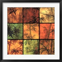 Bamboo Patchwork II Framed Print
