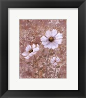 Lace Flowers II Framed Print