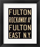Fulton/Rockaway Framed Print