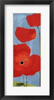 Poppy Sky Framed Print