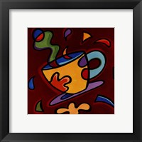 Framed Red Coffee Mug