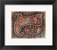 Framed Wildflower Bath Soap