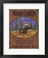 Moose Lodge Framed Print