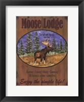 Framed Moose Lodge