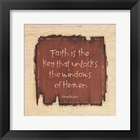 Framed Faith Is The Key