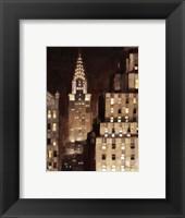 Framed Manhattan Aglow