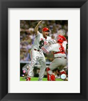 Framed Brad Lidge & Carlos Ruiz celebrate winning Game Five of the 2008 NLCS