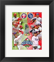 Framed 2008 World Series Match Up Compostie