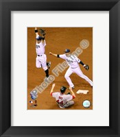 Framed Akinori Iwamura & Jason Bartlett celebrate the final out Game 7 of the 2008 ALCS