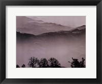 Framed Misty Landscape With Pool