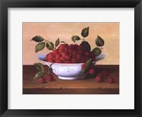 Framed Still Life With Raspberries