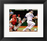 Framed Carlos Pena Game two of the 2008 MLB World Series