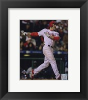 Framed Chase Utley Game three of the 2008 MLB World Series Home Run
