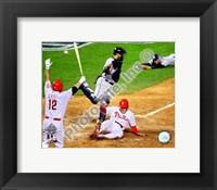 Framed Eric Bruntlett Game three of the 2008 MLB World Series Game Winning Run