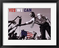 Framed Barack Obama:  Yes We Can (crowd)