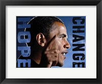Framed Barack Obama: Hope, Change