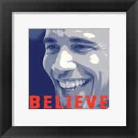 Framed Barack Obama:  Believe