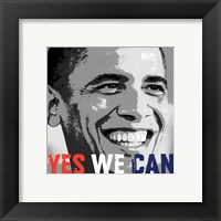 Framed Barack Obama:  Yes We Can