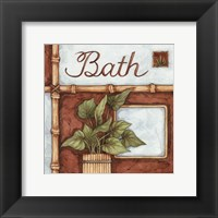 Bath (over a green plant) Framed Print