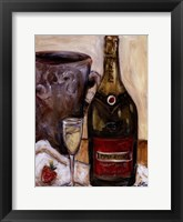 Framed Champagne And Strawberries