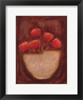 Red Illusions II Framed Print