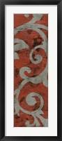 Cinnabar & Stone I Framed Print