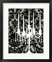 Framed Patterned Candelabra I