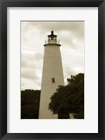 Framed Ocracoke Island Lighthouse