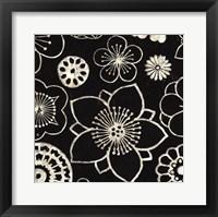 Silver Floral Cascade I Framed Print