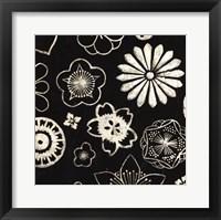 Silver Floral Cascade II Framed Print
