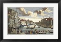 Framed Venice Canal and Gondola Race