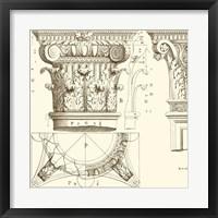 Corinthian Detail III Framed Print