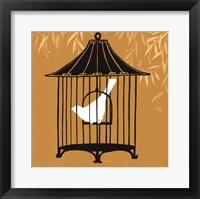 Birdcage Silhouette I Framed Print