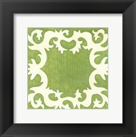 Petite Suzani in Green Framed Print