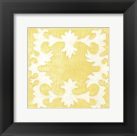 Petite Suzani in Yellow Framed Print