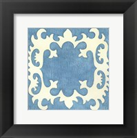 Petite Suzani in Blue Framed Print