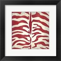 Vibrant Zebra I Framed Print